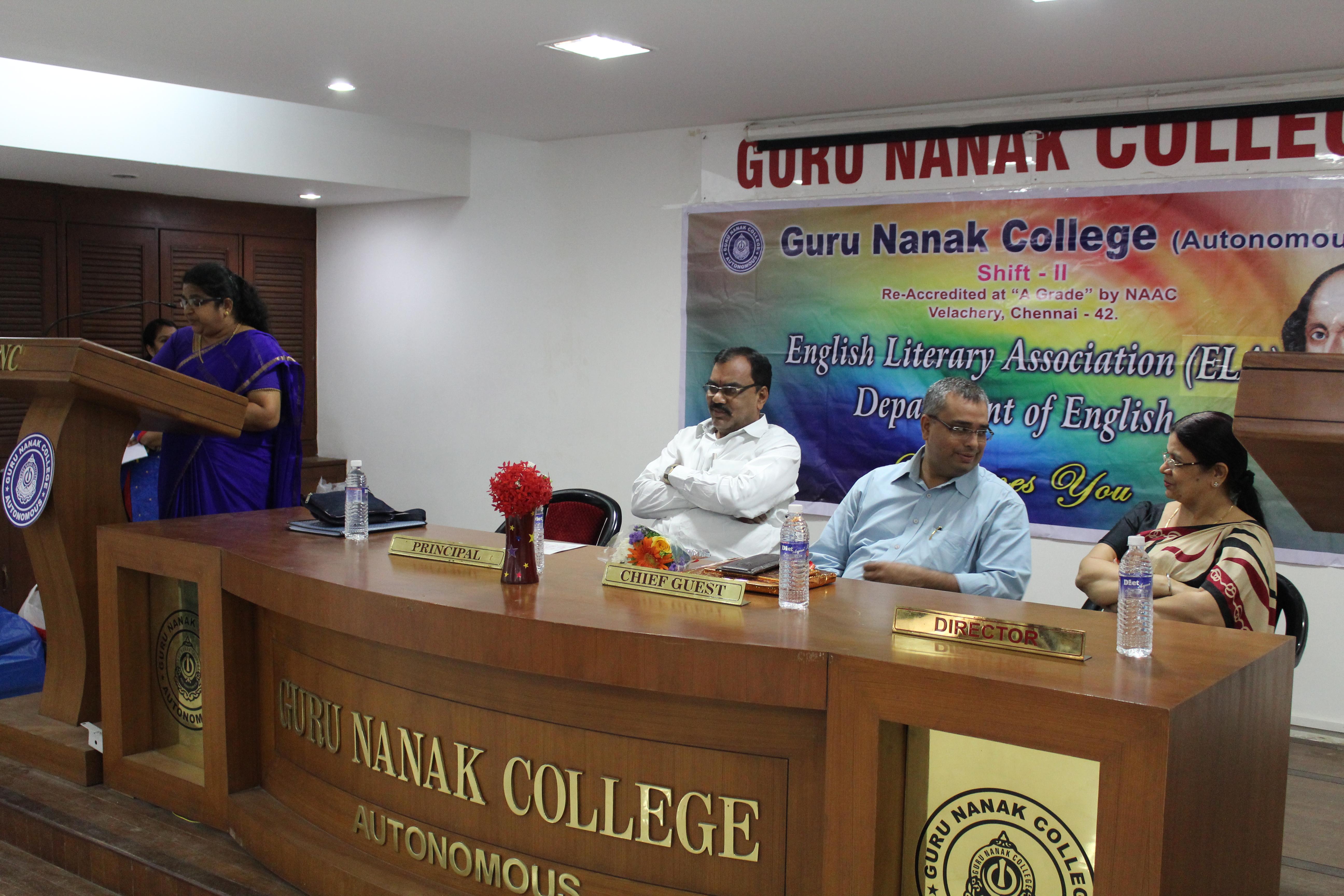 Department Of English- Shift 2 | Guru Nanak College